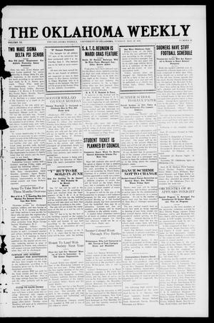 The Oklahoma Weekly (Norman, Okla.), Vol. 3, No. 13, Ed. 1 Tuesday, May 27, 1919