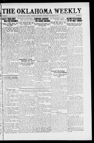 The Oklahoma Weekly (Norman, Okla.), Vol. 5, No. 3, Ed. 1 Thursday, December 16, 1920