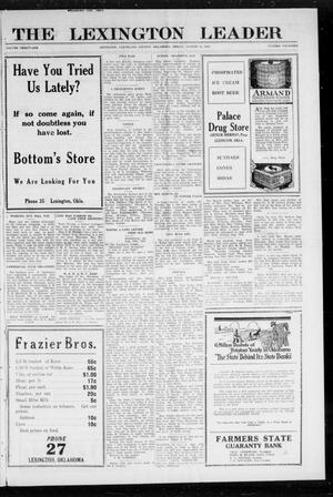 Primary view of object titled 'The Lexington Leader (Lexington, Okla.), Vol. 31, No. 14, Ed. 1 Friday, August 12, 1921'.