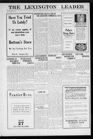 Primary view of object titled 'The Lexington Leader (Lexington, Okla.), Vol. 31, No. 15, Ed. 1 Friday, August 19, 1921'.