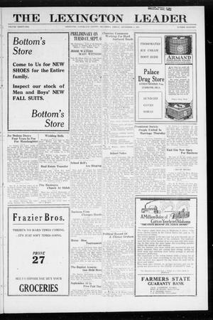 Primary view of object titled 'The Lexington Leader (Lexington, Okla.), Vol. 31, No. 18, Ed. 1 Friday, September 9, 1921'.