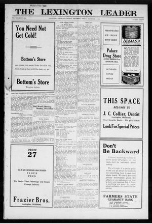 Primary view of object titled 'The Lexington Leader (Lexington, Okla.), Vol. 31, No. 30, Ed. 1 Friday, December 2, 1921'.