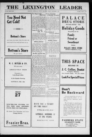 Primary view of object titled 'The Lexington Leader (Lexington, Okla.), Vol. 31, No. 31, Ed. 1 Friday, December 9, 1921'.