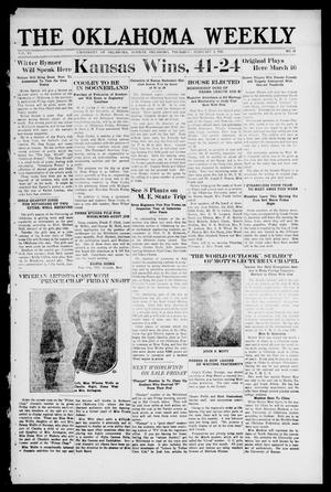 Primary view of object titled 'The Oklahoma Weekly (Norman, Okla.), Vol. 6, No. 14, Ed. 1 Thursday, February 2, 1922'.