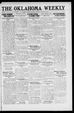 The Oklahoma Weekly (Norman, Okla.), Vol. 6, No. 17, Ed. 1 Thursday, February 23, 1922