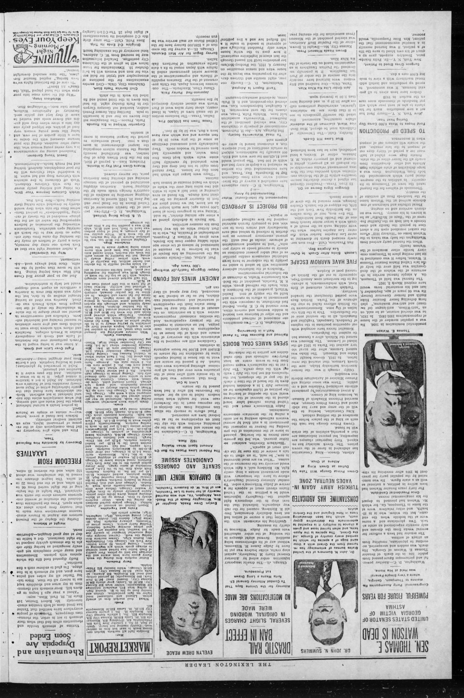 The Lexington Leader (Lexington, Okla.), Vol. 32, No. 21, Ed. 1 Monday, October 2, 1922                                                                                                      [Sequence #]: 2 of 8