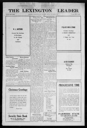 Primary view of object titled 'The Lexington Leader (Lexington, Okla.), Vol. 32, No. 33, Ed. 1 Monday, December 25, 1922'.