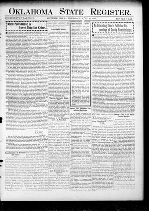 Primary view of object titled 'Oklahoma State Register. (Guthrie, Okla.), Vol. 14, No. 29, Ed. 1 Thursday, July 20, 1905'.