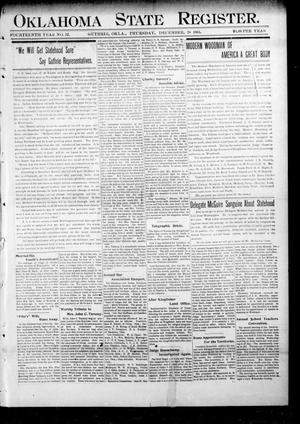 Primary view of object titled 'Oklahoma State Register. (Guthrie, Okla.), Vol. 14, No. 52, Ed. 1 Thursday, December 28, 1905'.