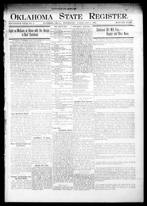 Primary view of object titled 'Oklahoma State Register. (Guthrie, Okla.), Vol. 15, No. 5, Ed. 1 Thursday, February 1, 1906'.