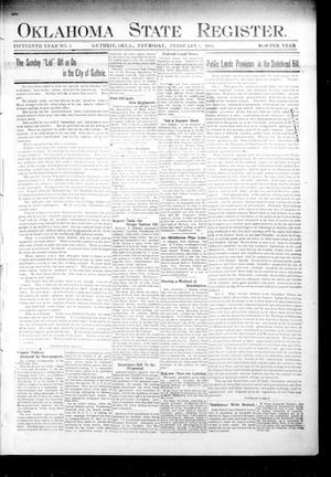 Primary view of object titled 'Oklahoma State Register. (Guthrie, Okla.), Vol. 15, No. 6, Ed. 1 Thursday, February 8, 1906'.