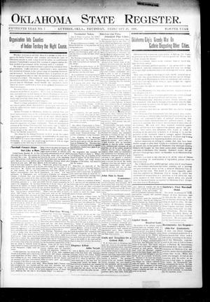 Primary view of object titled 'Oklahoma State Register. (Guthrie, Okla.), Vol. 15, No. 8, Ed. 1 Thursday, February 22, 1906'.