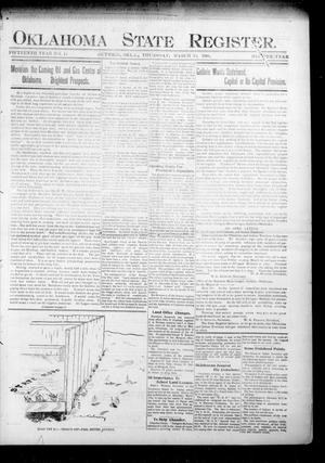Oklahoma State Register. (Guthrie, Okla.), Vol. 15, No. 11, Ed. 1 Thursday, March 15, 1906