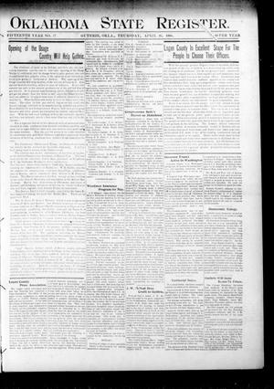 Primary view of object titled 'Oklahoma State Register. (Guthrie, Okla.), Vol. 15, No. 17, Ed. 1 Thursday, April 26, 1906'.