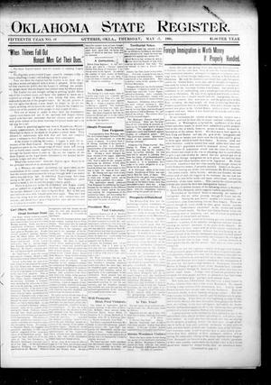 Primary view of object titled 'Oklahoma State Register. (Guthrie, Okla.), Vol. 15, No. 18, Ed. 1 Thursday, May 17, 1906'.