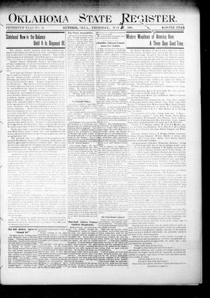 Primary view of object titled 'Oklahoma State Register. (Guthrie, Okla.), Vol. 15, No. 19, Ed. 1 Thursday, May 24, 1906'.