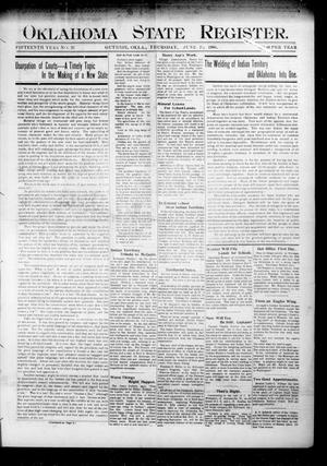 Oklahoma State Register. (Guthrie, Okla.), Vol. 15, No. 23, Ed. 1 Thursday, June 21, 1906