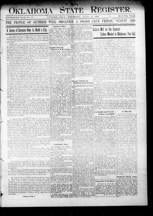 Oklahoma State Register. (Guthrie, Okla.), Vol. 15, No. 27, Ed. 1 Thursday, July 26, 1906