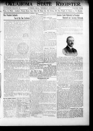 Oklahoma State Register. (Guthrie, Okla.), Vol. 15, No. 39, Ed. 1 Thursday, October 25, 1906