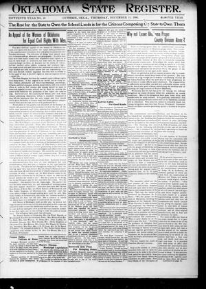 Primary view of object titled 'Oklahoma State Register. (Guthrie, Okla.), Vol. 15, No. 46, Ed. 1 Thursday, December 13, 1906'.