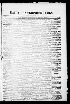 Primary view of object titled 'Daily Enterprise-Times. (Perry, Okla.), Vol. 1, No. 202, Ed. 1 Thursday, December 26, 1895'.