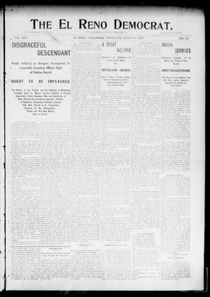 Primary view of object titled 'The El Reno Democrat. (El Reno, Okla. Terr.), Vol. 14, No. 22, Ed. 1 Thursday, June 25, 1903'.