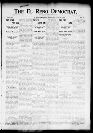 Primary view of object titled 'The El Reno Democrat. (El Reno, Okla. Terr.), Vol. 14, No. 25, Ed. 1 Thursday, July 16, 1903'.
