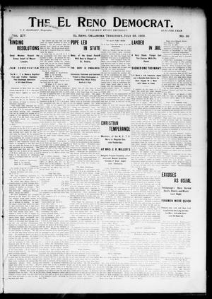 Primary view of object titled 'The El Reno Democrat. (El Reno, Okla. Terr.), Vol. 14, No. 26, Ed. 1 Thursday, July 23, 1903'.