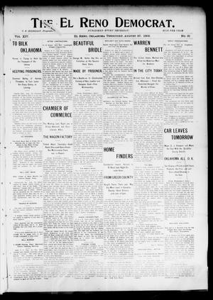 Primary view of object titled 'The El Reno Democrat. (El Reno, Okla. Terr.), Vol. 14, No. 31, Ed. 1 Thursday, August 27, 1903'.