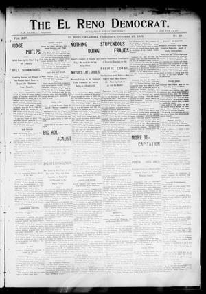 Primary view of object titled 'The El Reno Democrat. (El Reno, Okla. Terr.), Vol. 14, No. 39, Ed. 1 Thursday, October 22, 1903'.