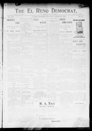Primary view of object titled 'The El Reno Democrat. (El Reno, Okla. Terr.), Vol. 14, No. 40, Ed. 1 Thursday, October 29, 1903'.