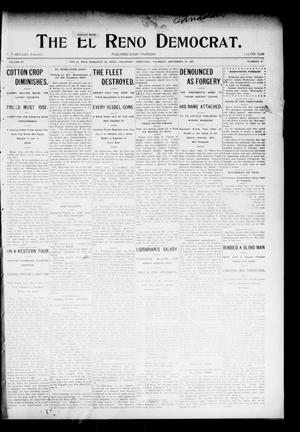 Primary view of object titled 'The El Reno Democrat. (El Reno, Okla. Terr.), Vol. 15, No. 37, Ed. 1 Thursday, September 29, 1904'.