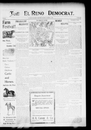 Primary view of object titled 'The El Reno Democrat. (El Reno, Okla. Terr.), Vol. 16, No. 39, Ed. 1 Thursday, October 12, 1905'.