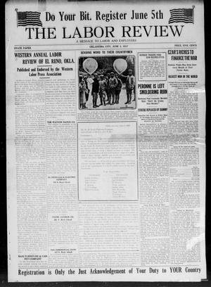 Primary view of object titled 'The Labor Review (Oklahoma City, Okla.), Vol. [1], No. [1], Ed. 1 Saturday, June 2, 1917'.