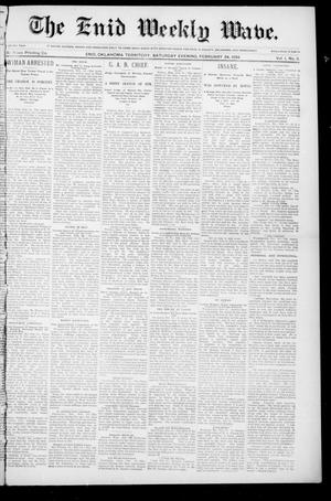 The Enid Weekly Wave. (Enid, Okla. Terr.), Vol. 1, No. 11, Ed. 1 Saturday, February 24, 1894