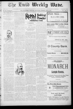 The Enid Weekly Wave. (Enid, Okla. Terr.), Vol. 1, No. 27, Ed. 1 Saturday, June 9, 1894