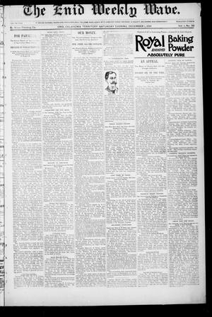 The Enid Weekly Wave. (Enid, Okla. Terr.), Vol. 1, No. 50, Ed. 1 Saturday, December 1, 1894