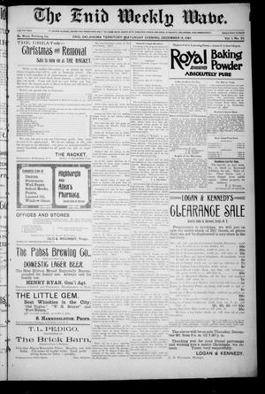 The Enid Weekly Wave. (Enid, Okla. Terr.), Vol. 1, No. 52, Ed. 1 Saturday, December 15, 1894