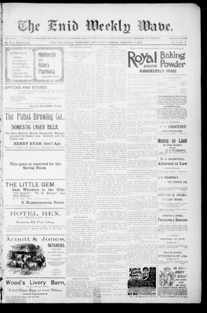 The Enid Weekly Wave. (Enid, Okla. Terr.), Vol. 2, No. 2, Ed. 1 Saturday, January 12, 1895