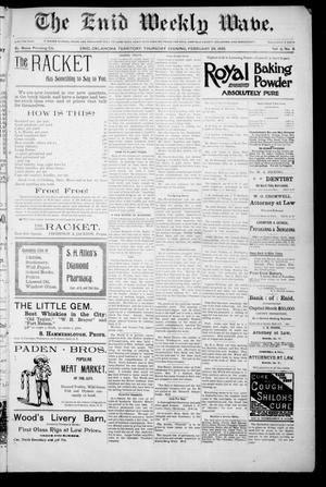 The Enid Weekly Wave. (Enid, Okla. Terr.), Vol. 2, No. 9, Ed. 1 Thursday, February 28, 1895