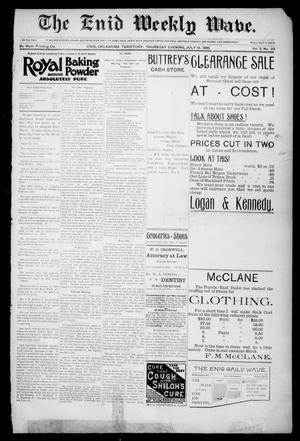 The Enid Weekly Wave. (Enid, Okla. Terr.), Vol. 2, No. 29, Ed. 1 Thursday, July 18, 1895