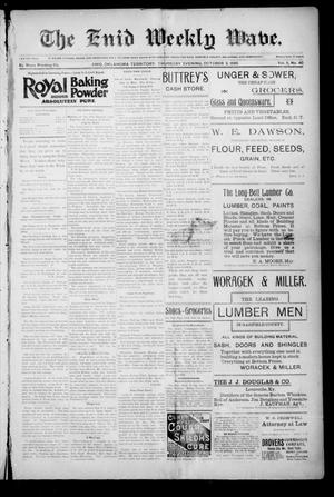 The Enid Weekly Wave. (Enid, Okla. Terr.), Vol. 2, No. 40, Ed. 1 Thursday, October 3, 1895