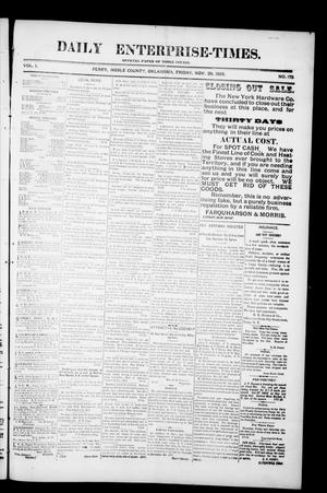 Daily Enterprise-Times. (Perry, Okla.), Vol. 1, No. 179, Ed. 1 Friday, November 29, 1895