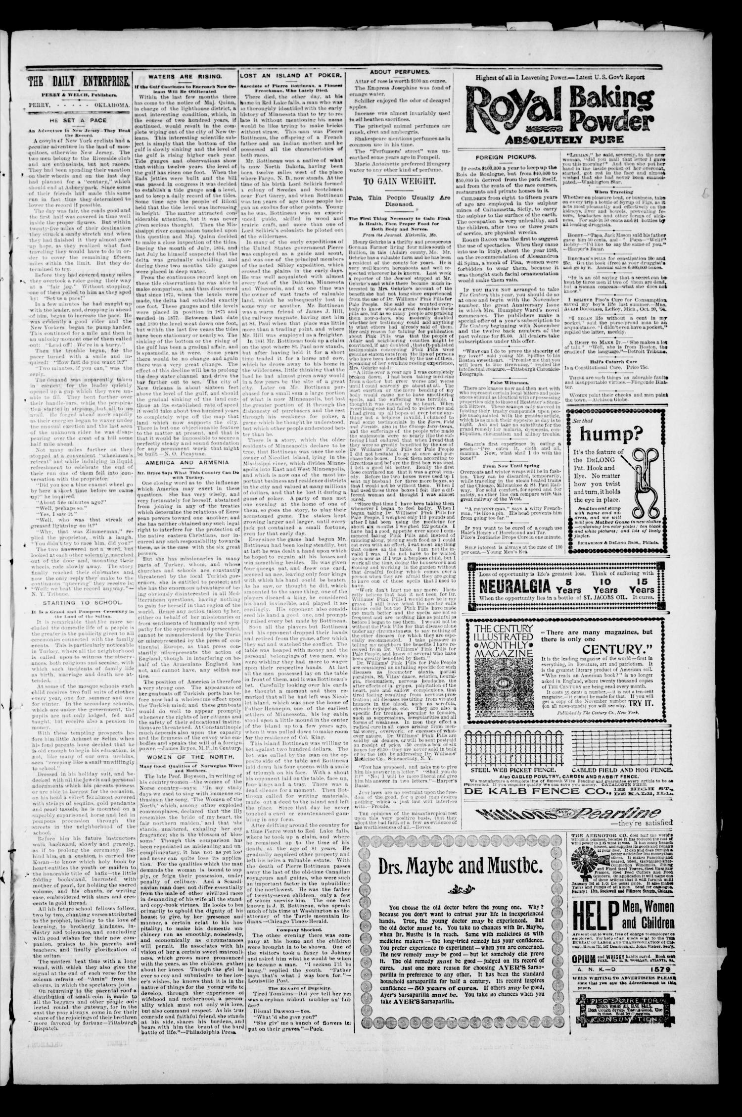 Daily Enterprise-Times. (Perry, Okla.), Vol. 1, No. 182, Ed. 1 Tuesday, December 3, 1895                                                                                                      [Sequence #]: 3 of 4