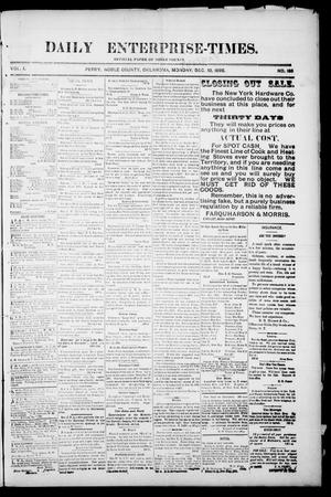 Primary view of Daily Enterprise-Times. (Perry, Okla.), Vol. 1, No. 188, Ed. 1 Tuesday, December 10, 1895