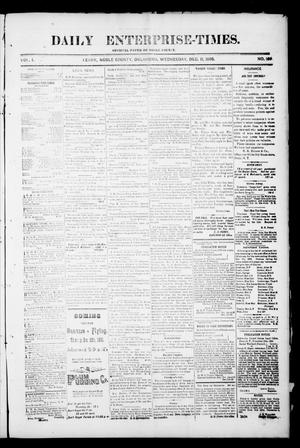 Primary view of object titled 'Daily Enterprise-Times. (Perry, Okla.), Vol. 1, No. 189, Ed. 1 Wednesday, December 11, 1895'.