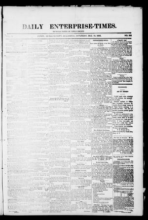 Primary view of object titled 'Daily Enterprise-Times. (Perry, Okla.), Vol. 1, No. 192, Ed. 1 Saturday, December 14, 1895'.
