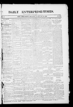Primary view of object titled 'Daily Enterprise-Times. (Perry, Okla.), Vol. 1, No. 206, Ed. 1 Tuesday, December 31, 1895'.