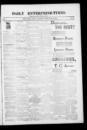 Daily Enterprise-Times. (Perry, Okla.), Vol. 1, No. 215, Ed. 1 Friday, January 10, 1896