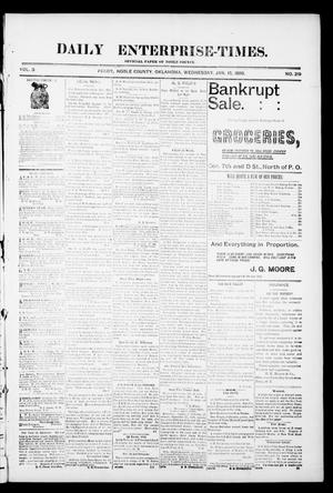 Daily Enterprise-Times. (Perry, Okla.), Vol. 1, No. 219, Ed. 1 Wednesday, January 15, 1896